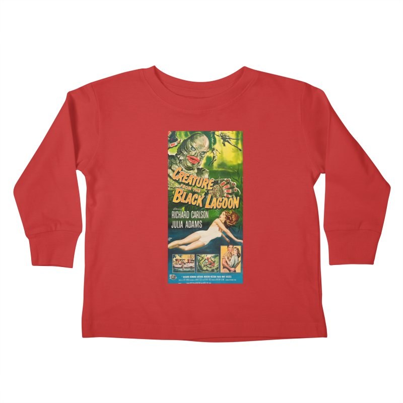 Creature from the Black Lagoon, vintage horror movie poster Kids Toddler Longsleeve T-Shirt by ALMA VISUAL's Artist Shop