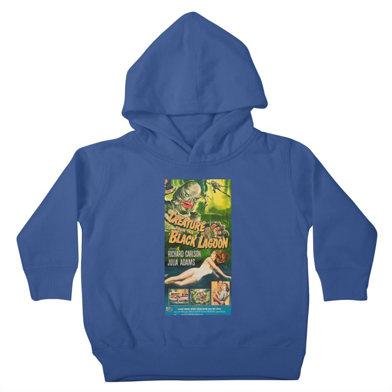Creature from the Black Lagoon, vintage horror movie poster Kids Toddler Pullover Hoody by ALMA VISUAL's Artist Shop