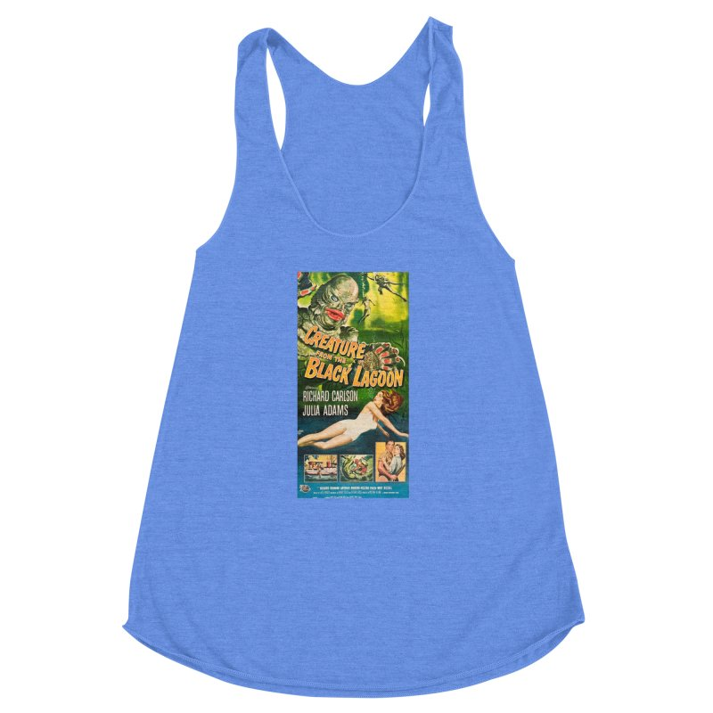 Creature from the Black Lagoon, vintage horror movie poster Women's Racerback Triblend Tank by ALMA VISUAL's Artist Shop