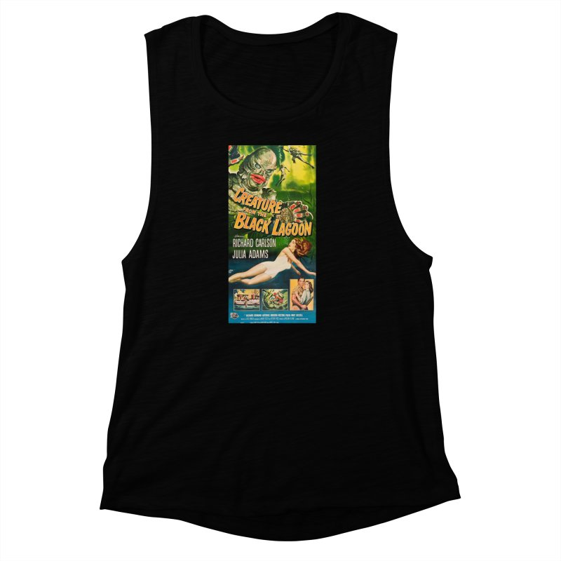 Creature from the Black Lagoon, vintage horror movie poster Women's Muscle Tank by ALMA VISUAL's Artist Shop