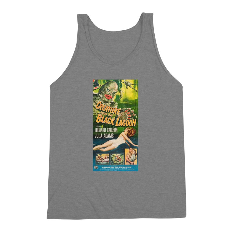 Creature from the Black Lagoon, vintage horror movie poster Men's Triblend Tank by ALMA VISUAL's Artist Shop