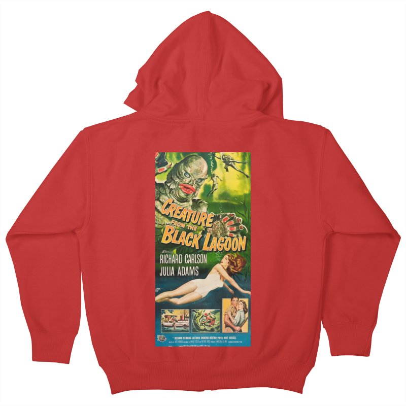 Creature from the Black Lagoon, vintage horror movie poster Kids Zip-Up Hoody by ALMA VISUAL's Artist Shop