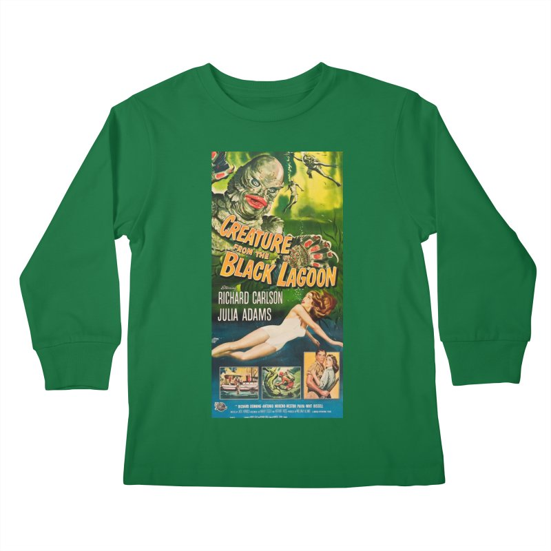 Creature from the Black Lagoon, vintage horror movie poster Kids Longsleeve T-Shirt by ALMA VISUAL's Artist Shop