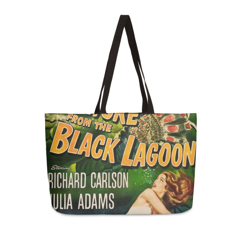 Creature from the Black Lagoon, vintage horror movie poster Accessories Weekender Bag Bag by ALMA VISUAL's Artist Shop