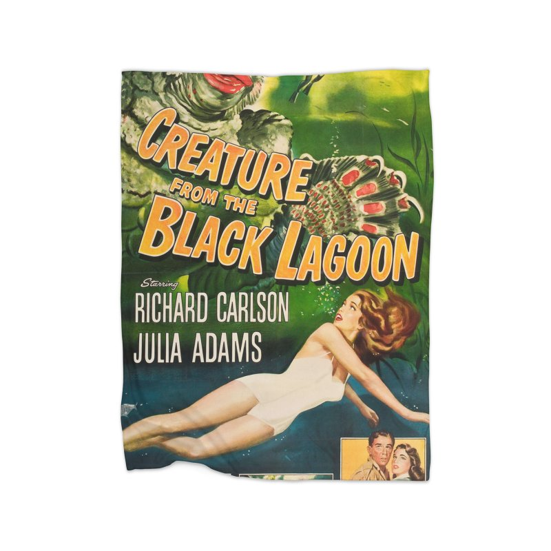 Creature from the Black Lagoon, vintage horror movie poster Home Blanket by ALMA VISUAL's Artist Shop