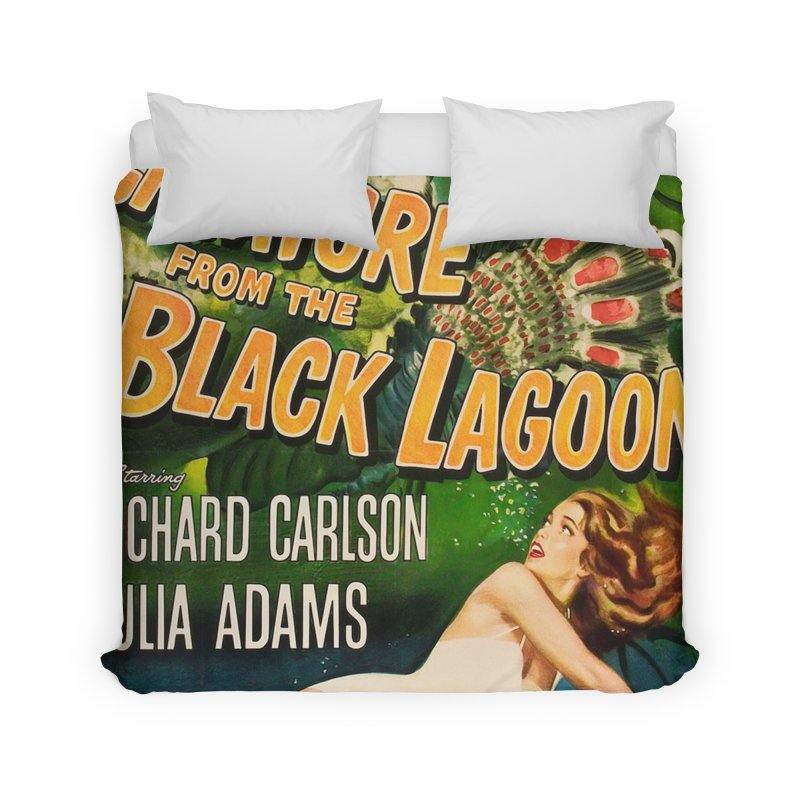 Creature from the Black Lagoon, vintage horror movie poster Home Duvet by ALMA VISUAL's Artist Shop
