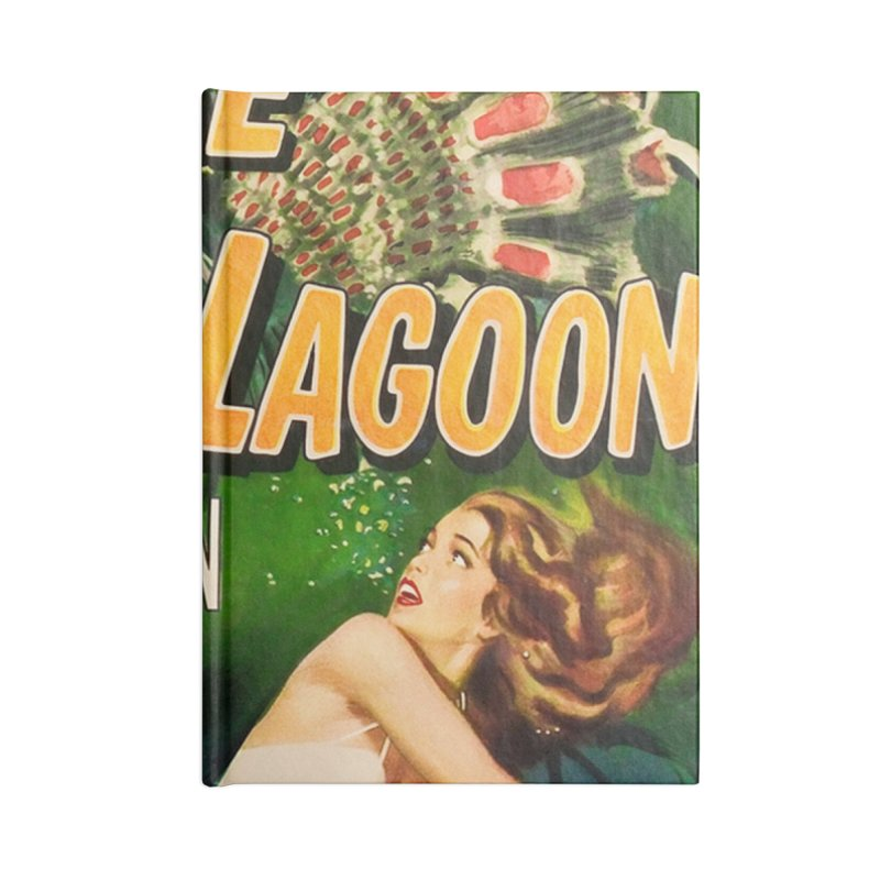 Creature from the Black Lagoon, vintage horror movie poster Accessories Lined Journal Notebook by ALMA VISUAL's Artist Shop