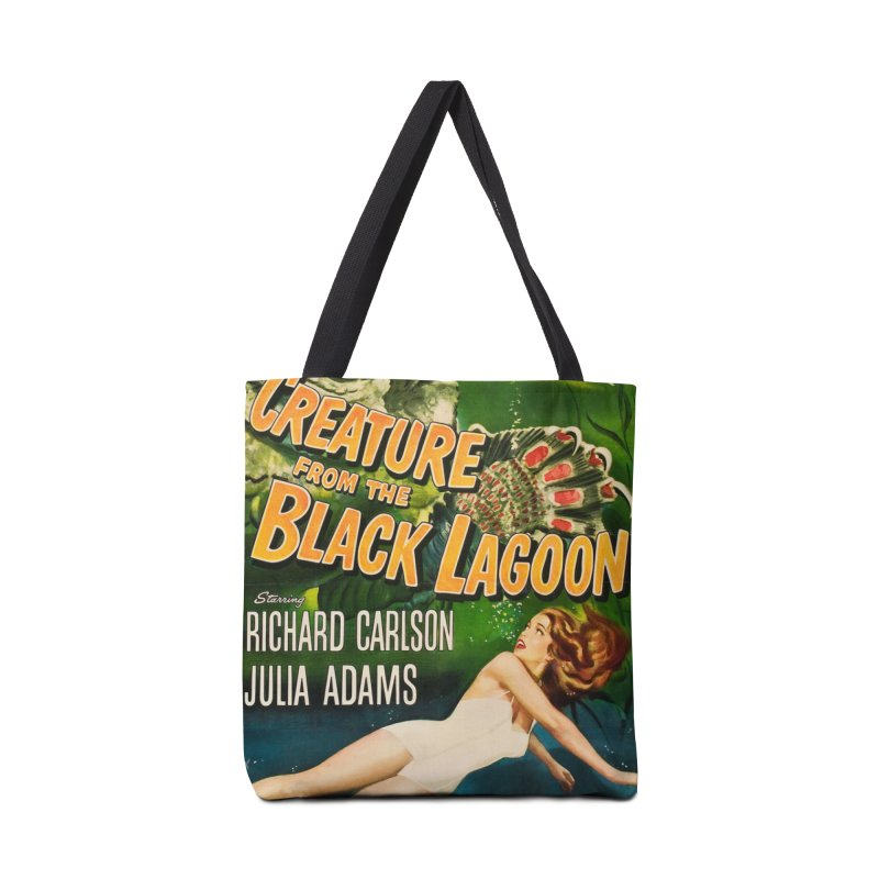 Creature from the Black Lagoon, vintage horror movie poster Accessories Tote Bag Bag by ALMA VISUAL's Artist Shop