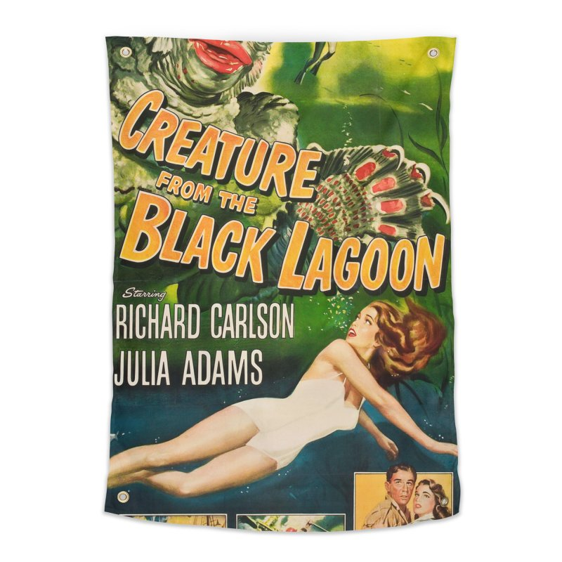 Creature from the Black Lagoon, vintage horror movie poster Home Tapestry by ALMA VISUAL's Artist Shop