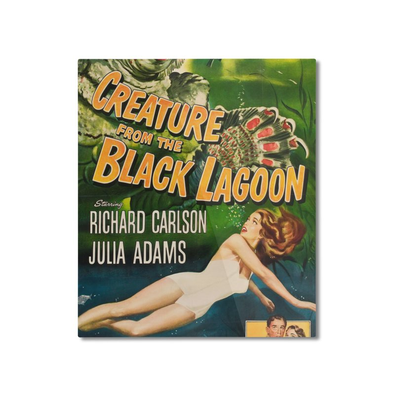 Creature from the Black Lagoon, vintage horror movie poster Home Mounted Aluminum Print by ALMA VISUAL's Artist Shop