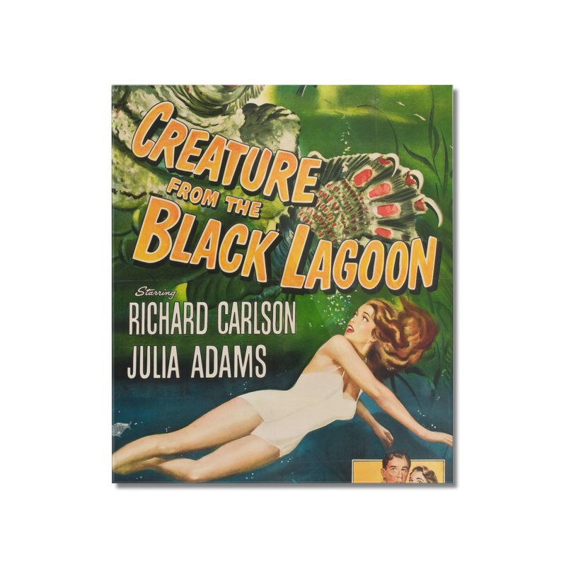Creature from the Black Lagoon, vintage horror movie poster Home Mounted Acrylic Print by ALMA VISUAL's Artist Shop