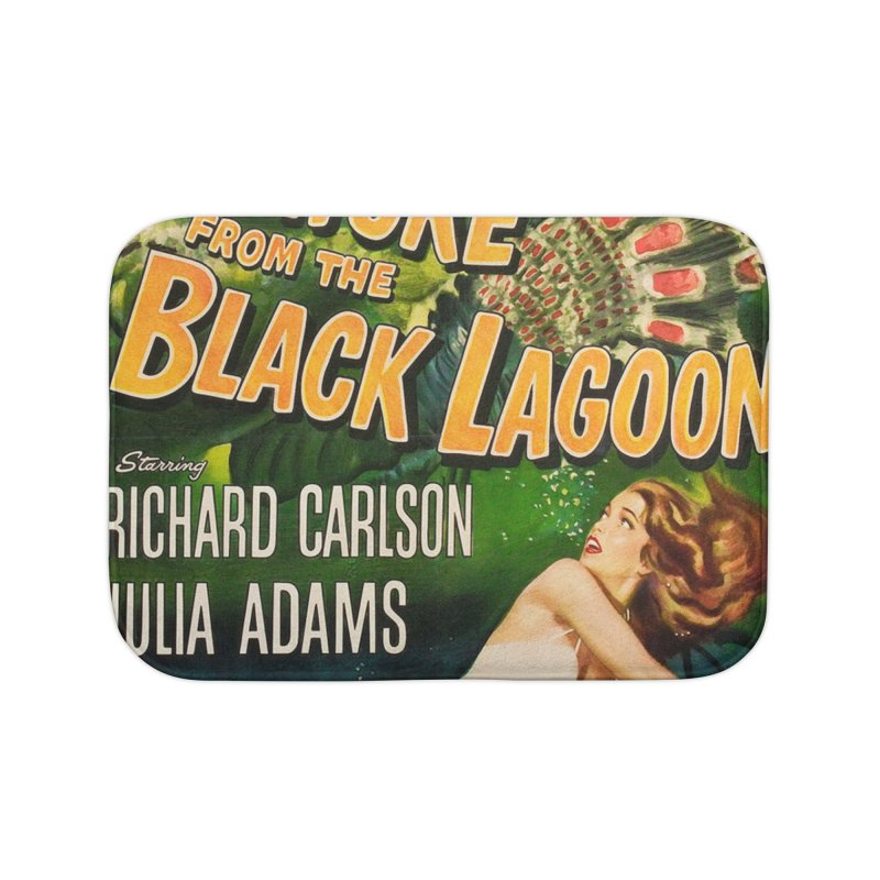 Creature from the Black Lagoon, vintage horror movie poster Home Bath Mat by ALMA VISUAL's Artist Shop