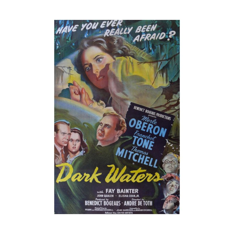 Dark Waters, vintage horror movie poster Women's V-Neck by ALMA VISUAL's Artist Shop