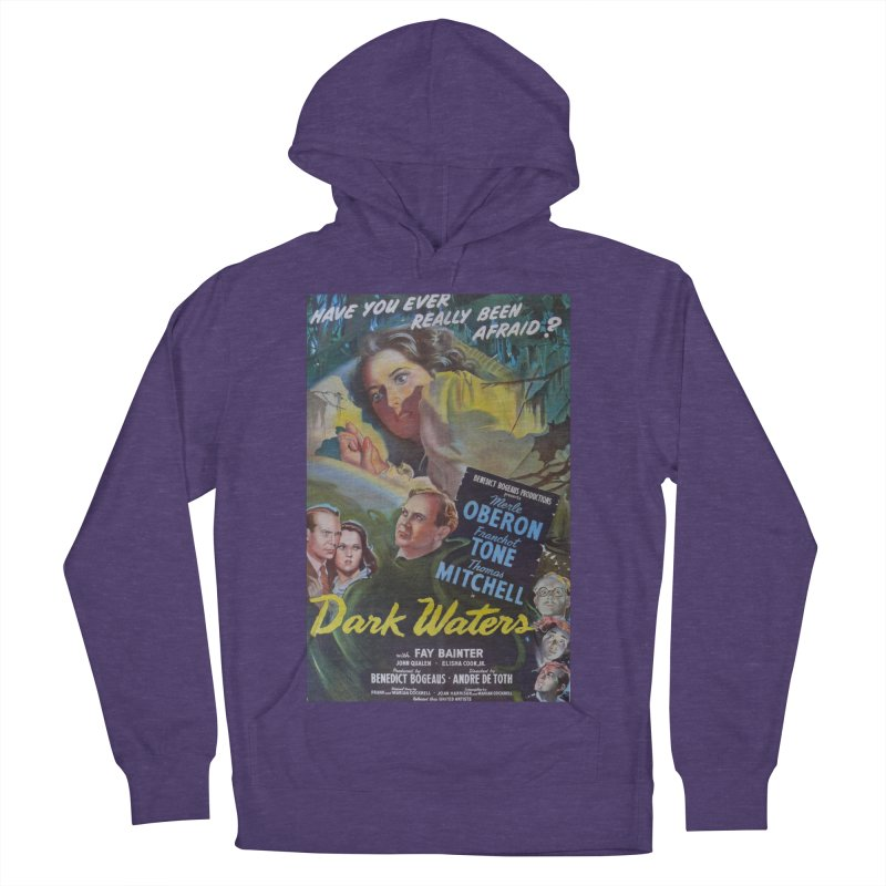 Dark Waters, vintage horror movie poster Men's French Terry Pullover Hoody by ALMA VISUAL's Artist Shop