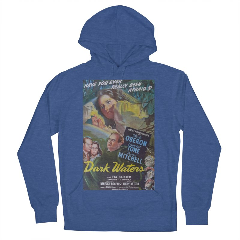 Dark Waters, vintage horror movie poster Men's Pullover Hoody by ALMA VISUAL's Artist Shop