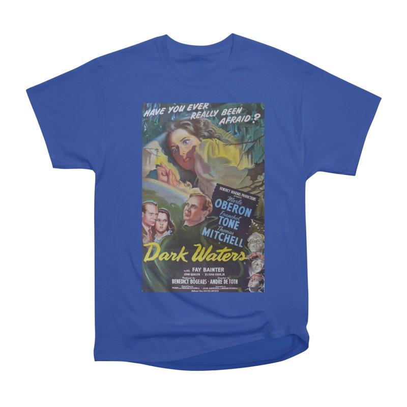 Dark Waters, vintage horror movie poster Women's Heavyweight Unisex T-Shirt by ALMA VISUAL's Artist Shop