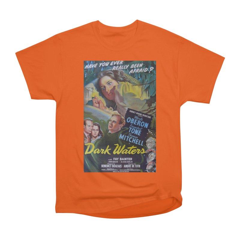 Dark Waters, vintage horror movie poster Men's Heavyweight T-Shirt by ALMA VISUAL's Artist Shop