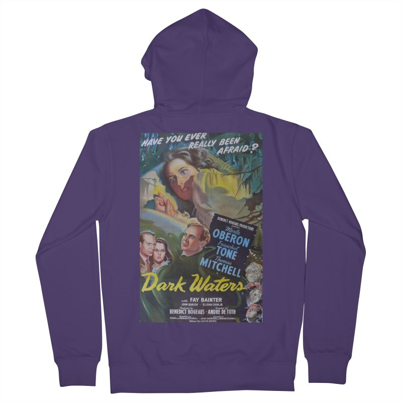 Dark Waters, vintage horror movie poster Women's French Terry Zip-Up Hoody by ALMA VISUAL's Artist Shop