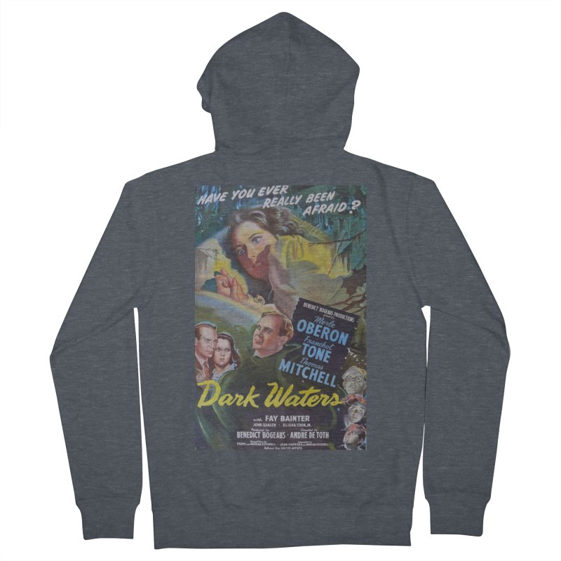 Dark Waters, vintage horror movie poster Men's Zip-Up Hoody by ALMA VISUAL's Artist Shop