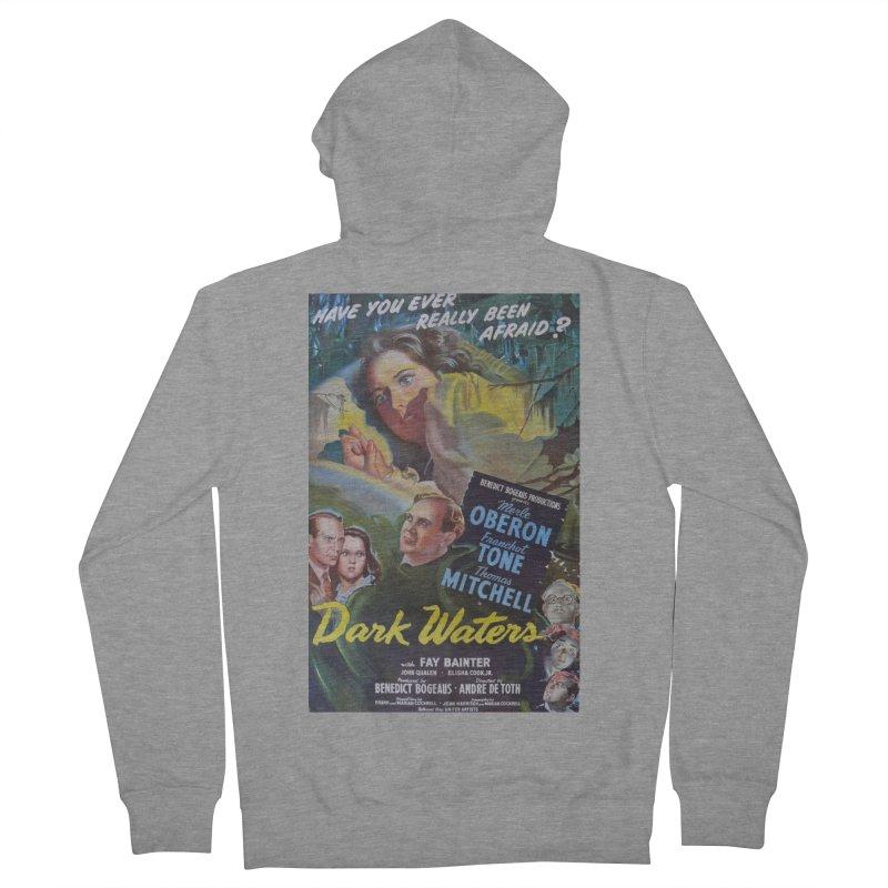 Dark Waters, vintage horror movie poster Men's Zip-Up Hoody by ALMA VISUAL's Artist Shop