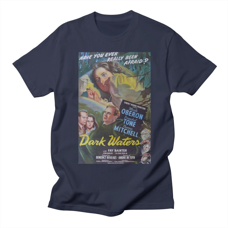 Dark Waters, vintage horror movie poster Men's T-Shirt by ALMA VISUAL's Artist Shop