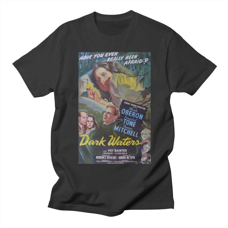 Dark Waters, vintage horror movie poster Men's Regular T-Shirt by ALMA VISUAL's Artist Shop