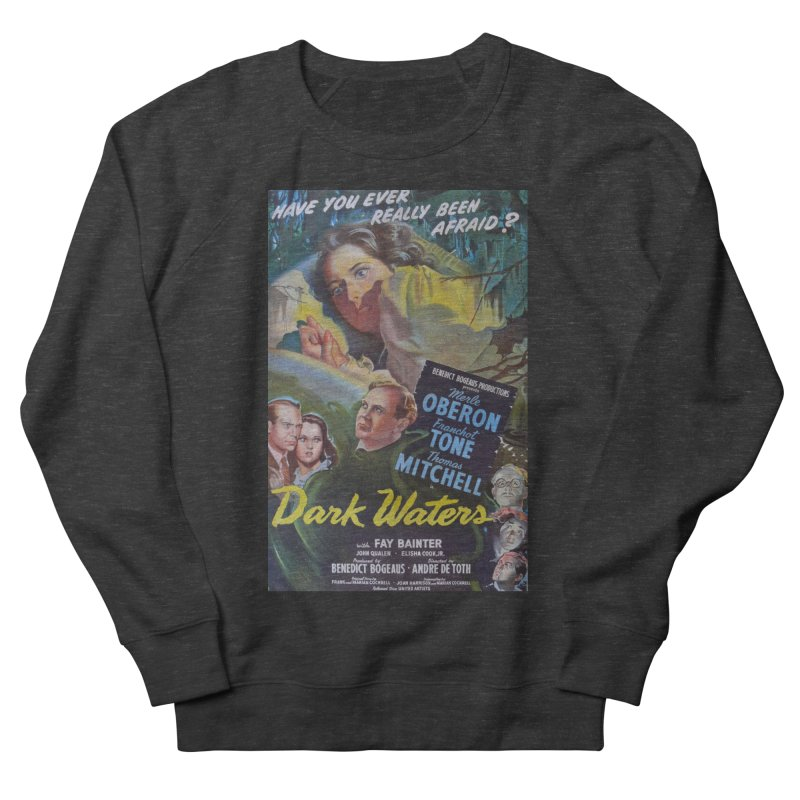 Dark Waters, vintage horror movie poster Men's French Terry Sweatshirt by ALMA VISUAL's Artist Shop