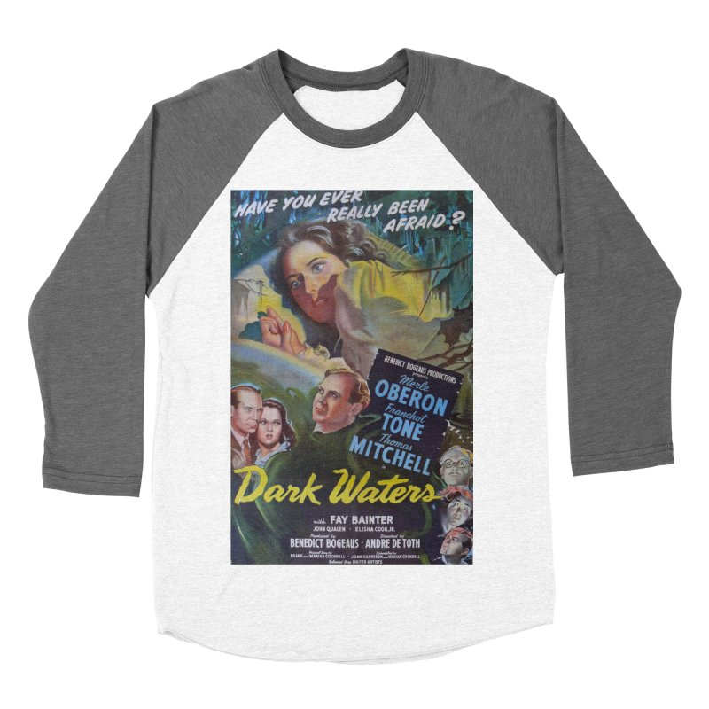 Dark Waters, vintage horror movie poster Women's Baseball Triblend Longsleeve T-Shirt by ALMA VISUAL's Artist Shop