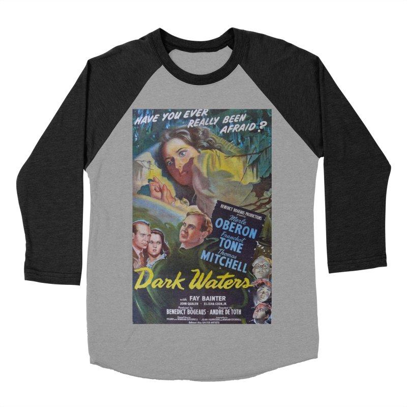 Dark Waters, vintage horror movie poster Men's Baseball Triblend T-Shirt by ALMA VISUAL's Artist Shop