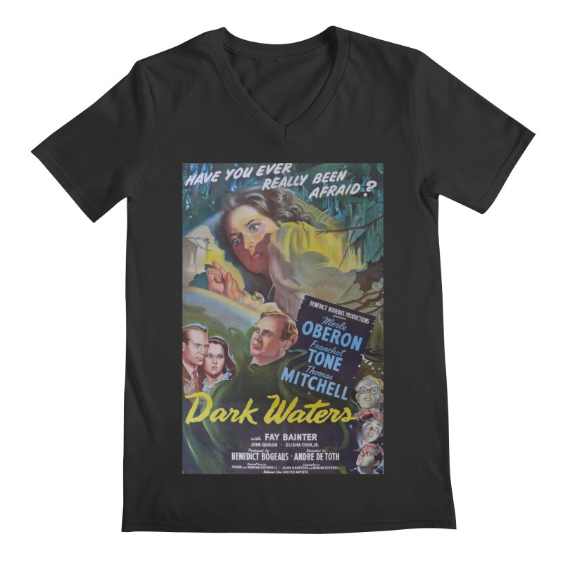 Dark Waters, vintage horror movie poster Men's Regular V-Neck by ALMA VISUAL's Artist Shop