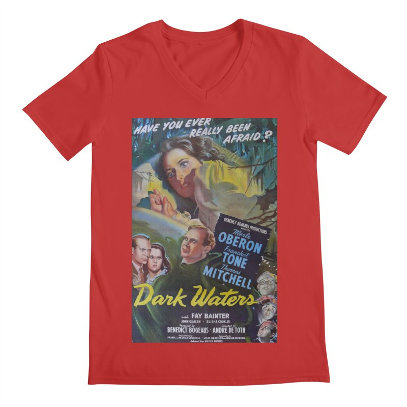 Dark Waters, vintage horror movie poster Men's V-Neck by ALMA VISUAL's Artist Shop