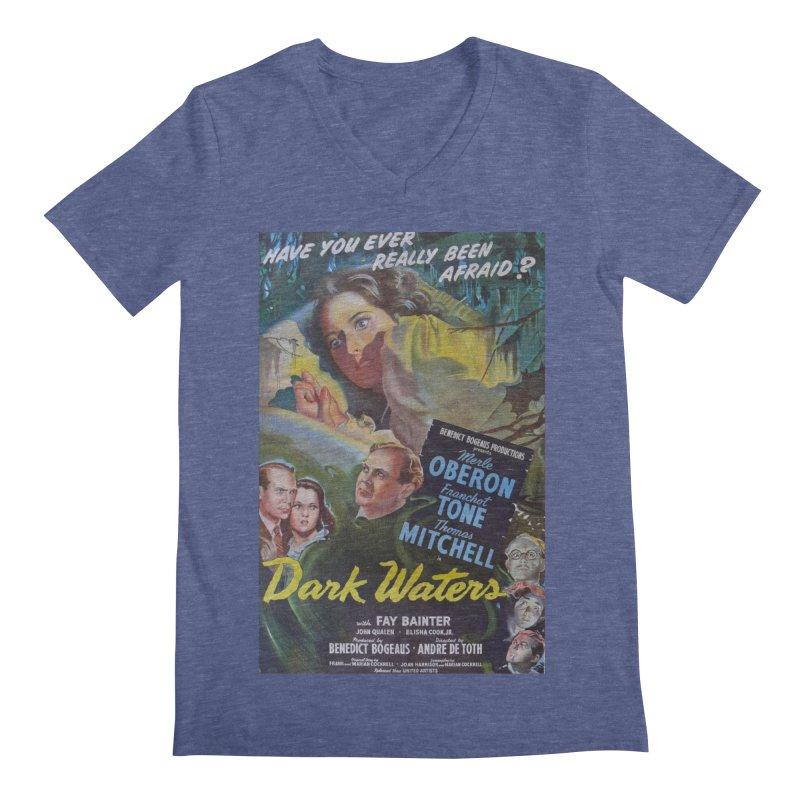 Dark Waters, vintage horror movie poster Men's Regular V-Neck by ALMA VISUAL's Artist Shop