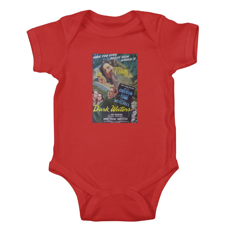 Dark Waters, vintage horror movie poster Kids Baby Bodysuit by ALMA VISUAL's Artist Shop