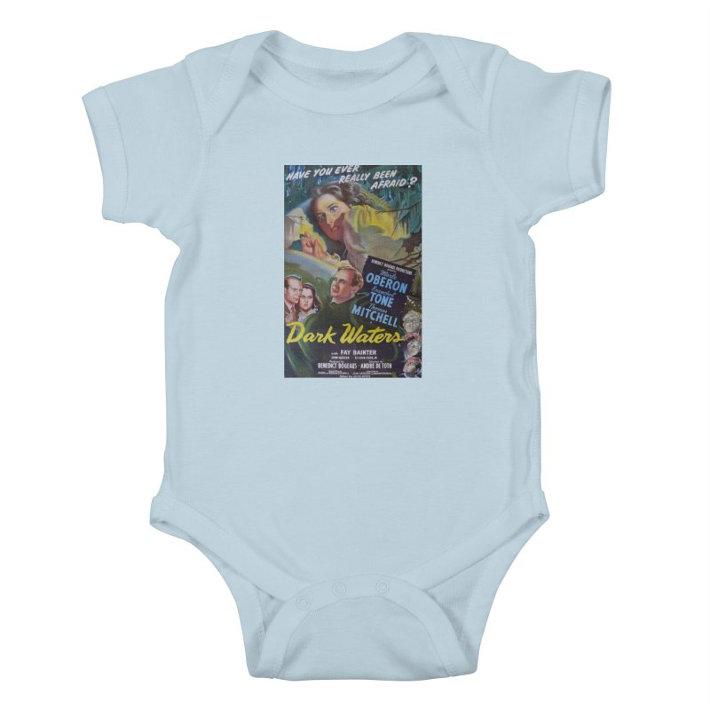 Dark Waters, vintage horror movie poster Kids Baby Bodysuit by ALMA VISUAL's Artist Shop