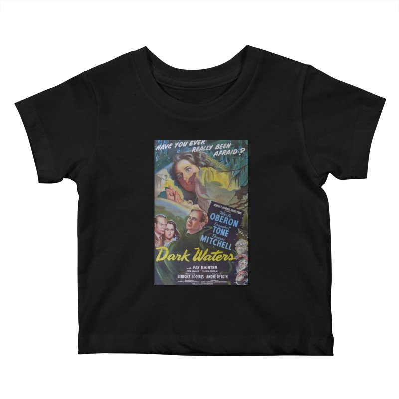 Dark Waters, vintage horror movie poster Kids Baby T-Shirt by ALMA VISUAL's Artist Shop