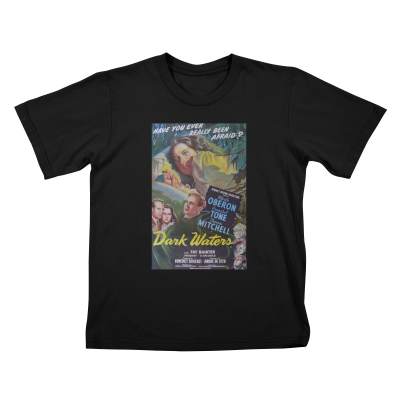 Dark Waters, vintage horror movie poster Kids T-Shirt by ALMA VISUAL's Artist Shop