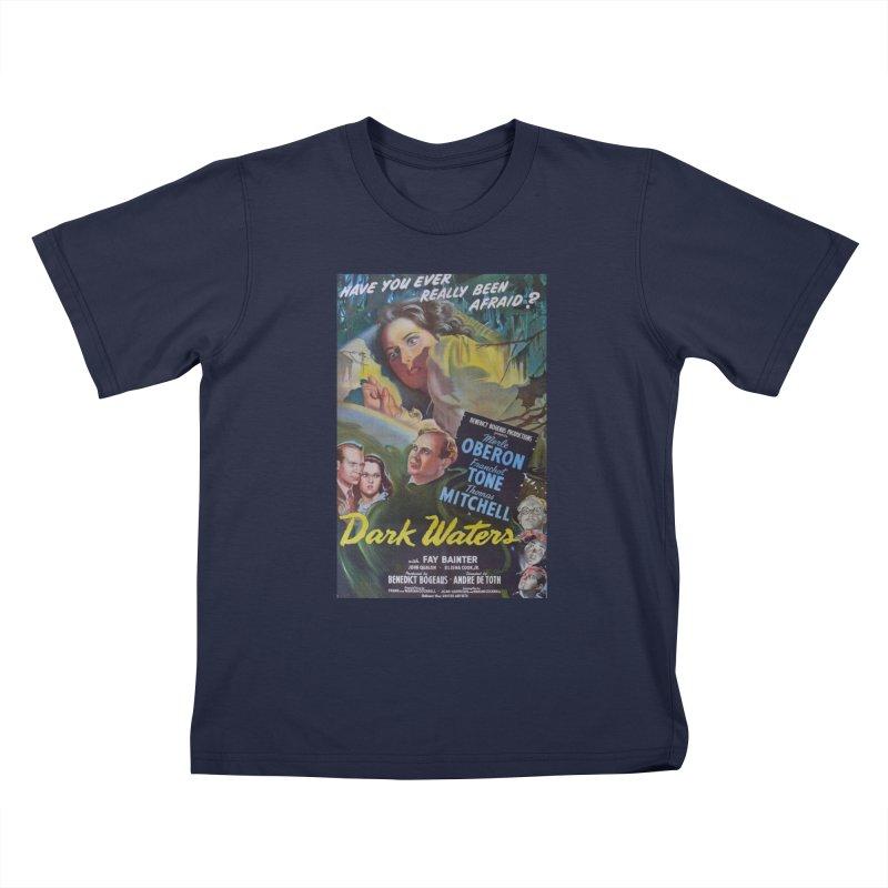 Dark Waters, vintage horror movie poster Kids Toddler T-Shirt by ALMA VISUAL's Artist Shop