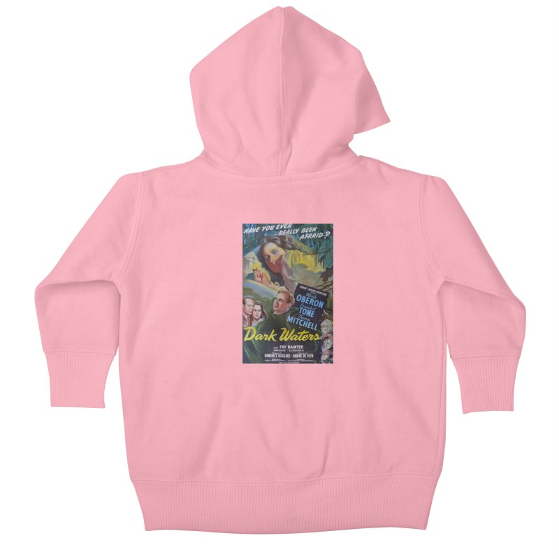 Dark Waters, vintage horror movie poster Kids Baby Zip-Up Hoody by ALMA VISUAL's Artist Shop