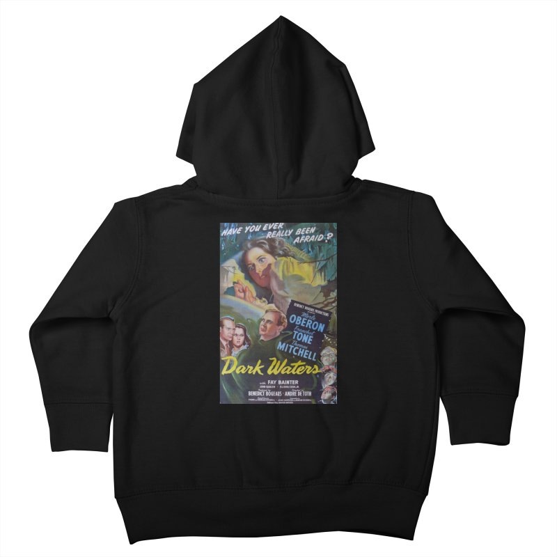Dark Waters, vintage horror movie poster Kids Toddler Zip-Up Hoody by ALMA VISUAL's Artist Shop