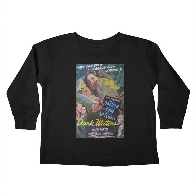 Dark Waters, vintage horror movie poster Kids Toddler Longsleeve T-Shirt by ALMA VISUAL's Artist Shop