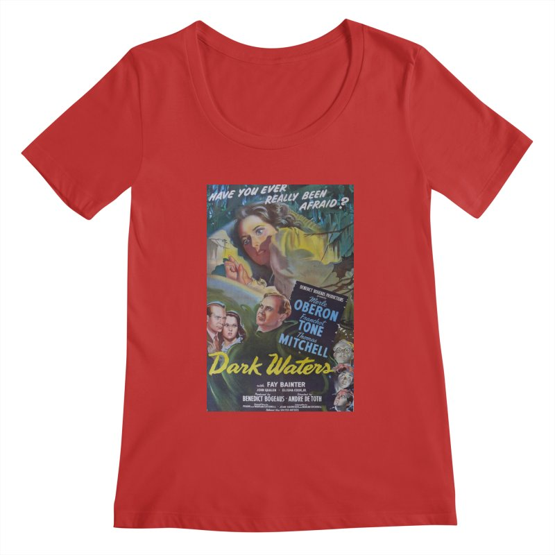 Dark Waters, vintage horror movie poster Women's Scoopneck by ALMA VISUAL's Artist Shop