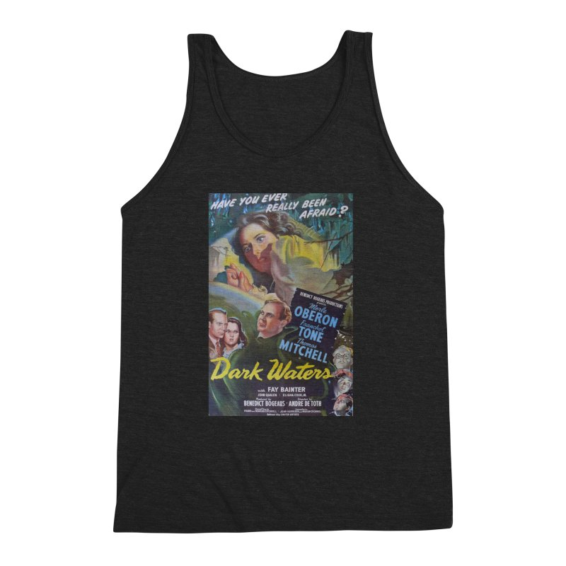 Dark Waters, vintage horror movie poster Men's Triblend Tank by ALMA VISUAL's Artist Shop
