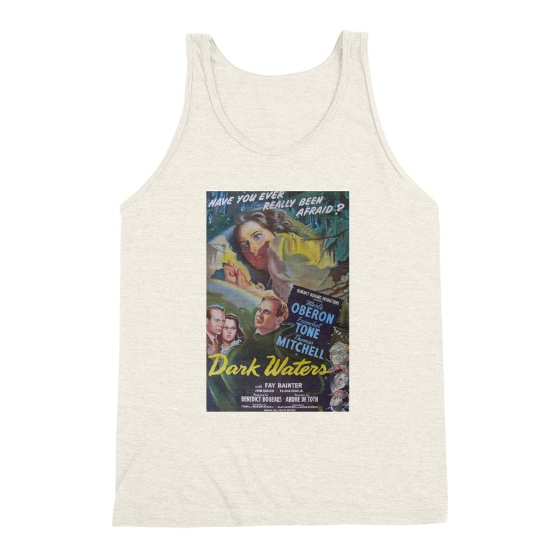 Dark Waters, vintage horror movie poster Men's Triblend Tank by ALMA VISUAL's Artist Shop