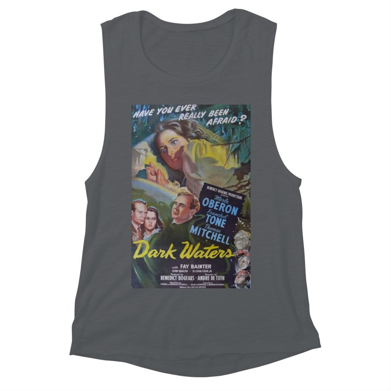 Dark Waters, vintage horror movie poster Women's Muscle Tank by ALMA VISUAL's Artist Shop