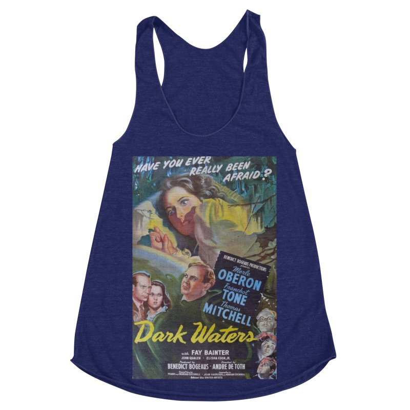 Dark Waters, vintage horror movie poster Women's Racerback Triblend Tank by ALMA VISUAL's Artist Shop