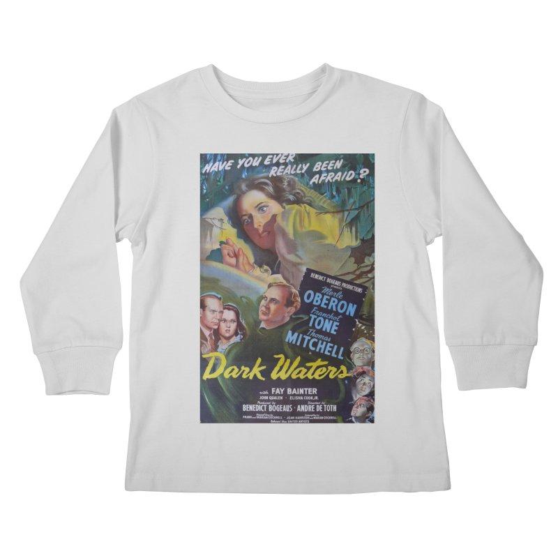 Dark Waters, vintage horror movie poster Kids Longsleeve T-Shirt by ALMA VISUAL's Artist Shop