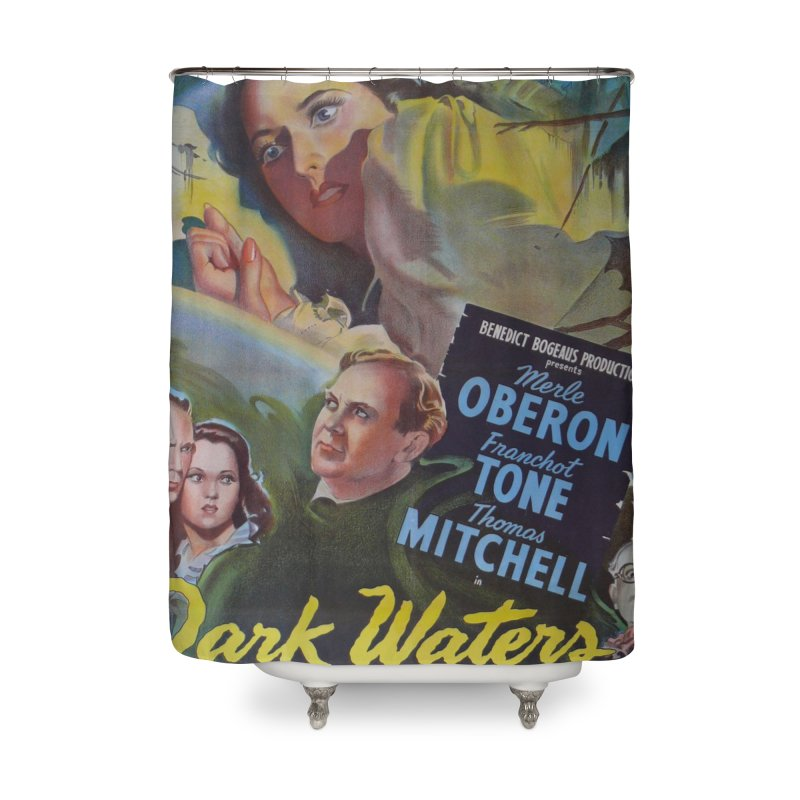 Dark Waters, vintage horror movie poster Home Shower Curtain by ALMA VISUAL's Artist Shop