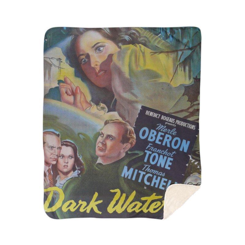Dark Waters, vintage horror movie poster Home Sherpa Blanket Blanket by ALMA VISUAL's Artist Shop