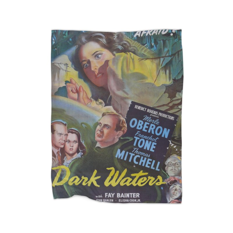 Dark Waters, vintage horror movie poster Home Blanket by ALMA VISUAL's Artist Shop