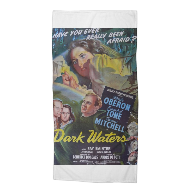 Dark Waters, vintage horror movie poster Accessories Beach Towel by ALMA VISUAL's Artist Shop